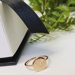 ROSE GOLD SIGNET RING - PINKY RING