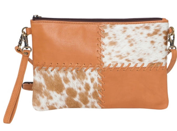 Lisbon- Boho cowhide clutch bag