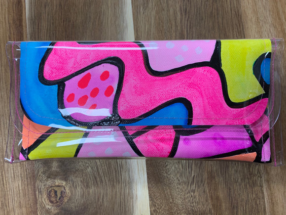 Poppy Lane Hand Painted Mini Clutch