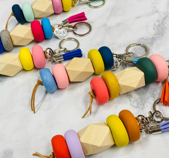 BEAD & CLAY KEYCHAIN/ BAG TAG - COBBLER RD