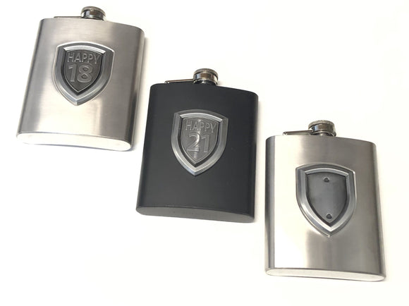 HIP FLASK - BADGE