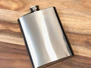 HIP FLASK - PLAIN SILVER