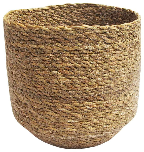 Stitch Planter Natural Med 19cm