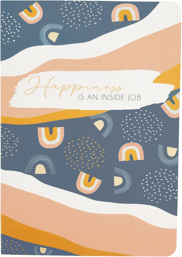 Happiness is an Inside Job Journal Blue - Cobbler rd