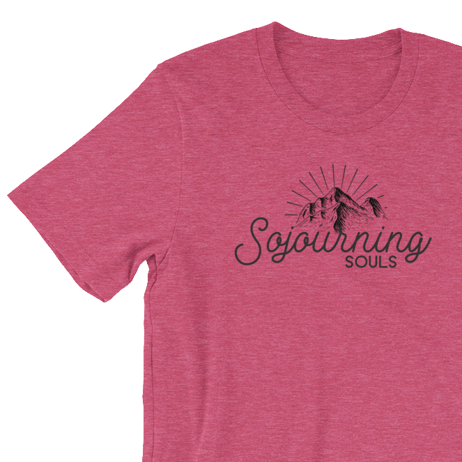 Sojourning Souls Script Mountain Tee