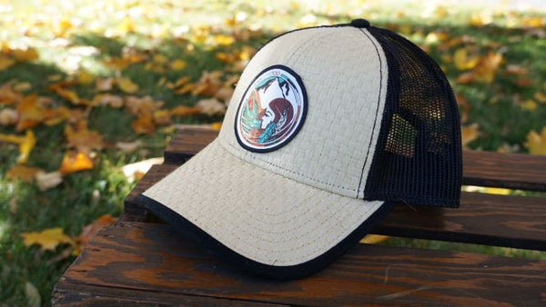 Prickly Pear Straw Snapback