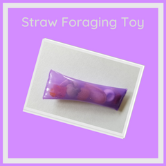 Straw foraging toy for parrots