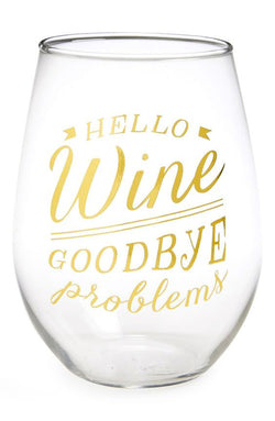 School Yardª Stemless Wine Glass by Twine
