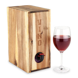 Country Homeª Acacia Wood Boxed Wine Cover by Twine