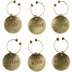 Chateauª Varietal Metal Wine Charms by Twine