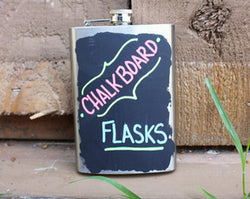 School Yardª Chalkboard Flask by Twine
