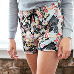 Midnight Paisley Lounge Shorts