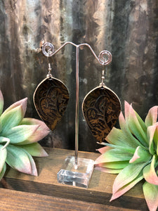 Floral Leaf Earrings