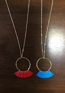 Tassel Hoop Necklace
