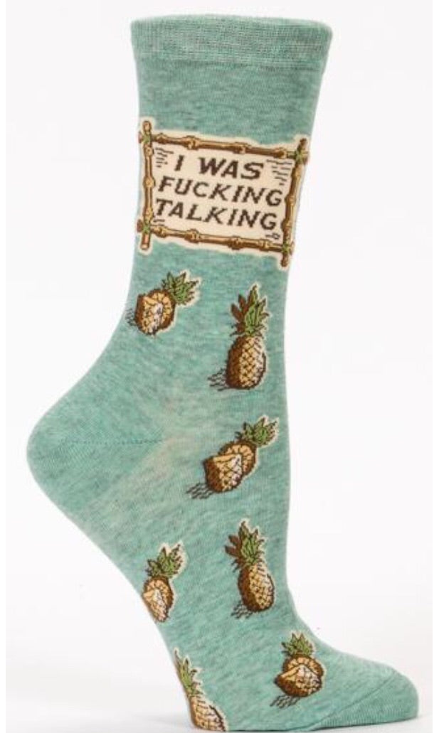 I was F**king Talking- Socks