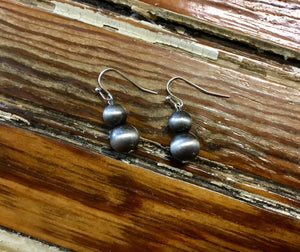 Pewter Navajo Pearl Earrings