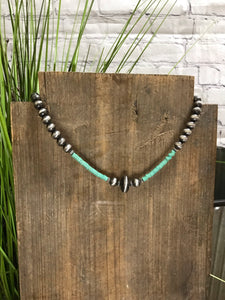 Drum Beaded Necklace