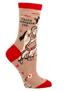 """I hate everyone too"" Socks"