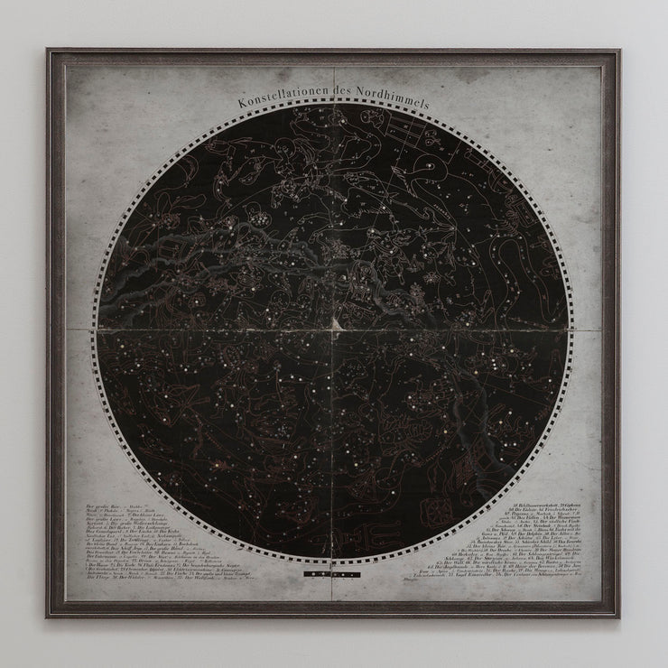 Star Map German Constellation Chart Konstellationen Des Nordhimmels