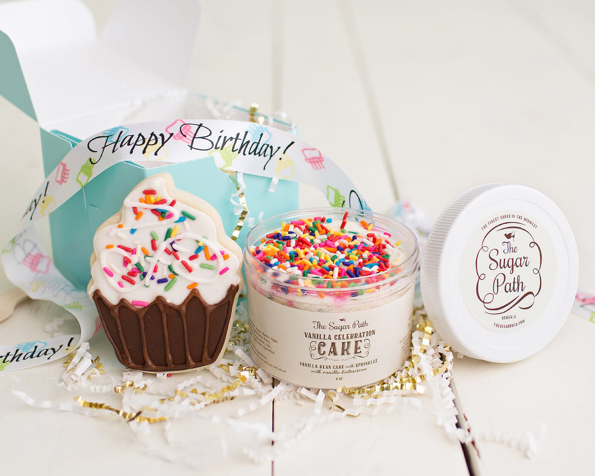 Birthday Cube---Birthday Cake in a Jar and Cookie Birthday Gift