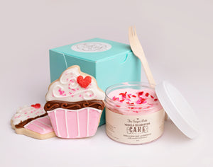 Sweetheart Box---Valentine Confetti Cake Jar and Cookie Gift