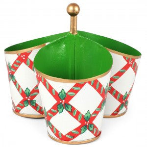 Candy Cane Metal Trellis Caddy