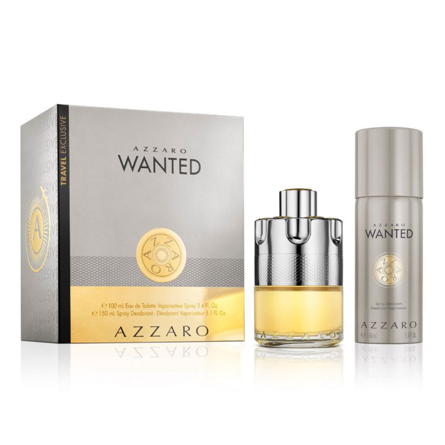 Azzaro Wanted Eau De Toilette 100ml Gift Set
