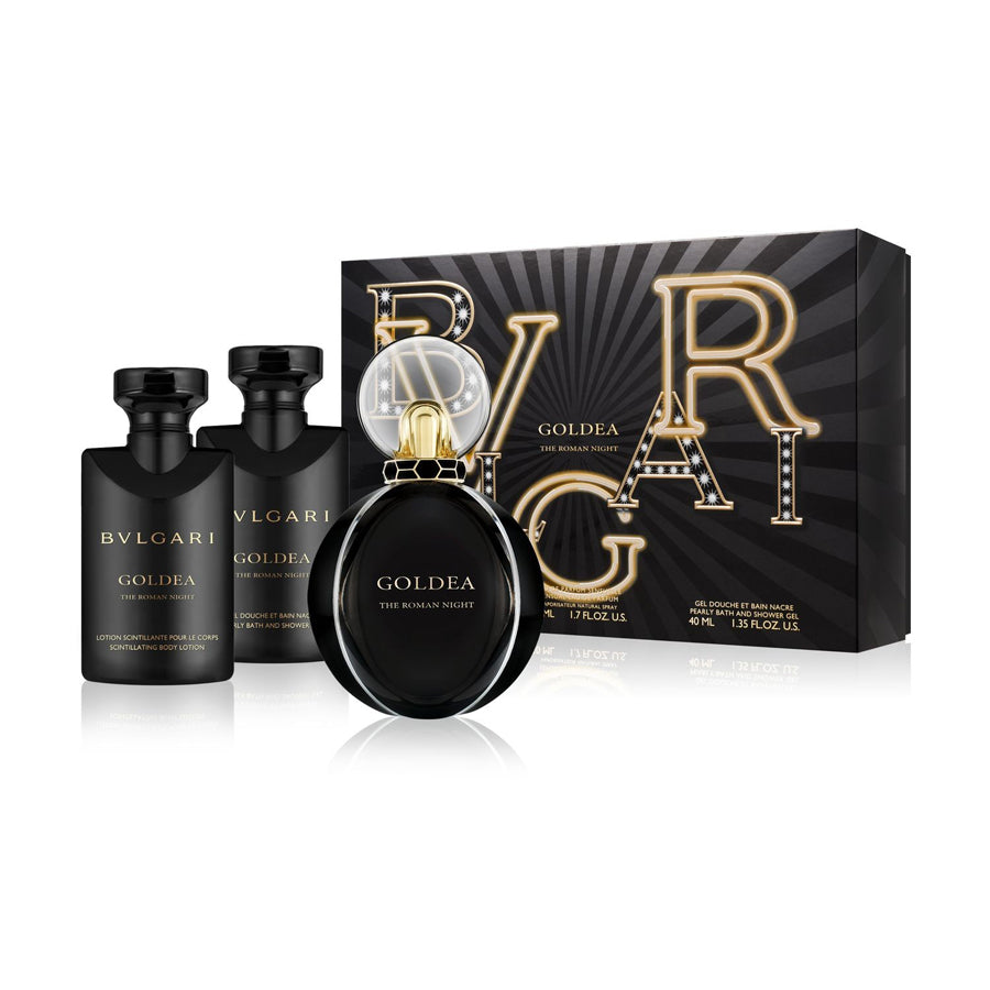 Bvlgari Goldea The Roman Night Eau De Parfum 50ml Gift Set