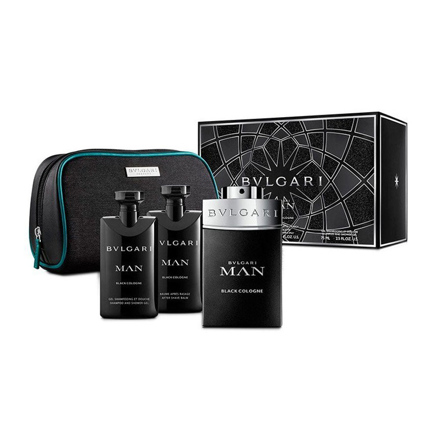 Bvlgari Man Black Cologne Eau De Toilette 100ml Gift Set