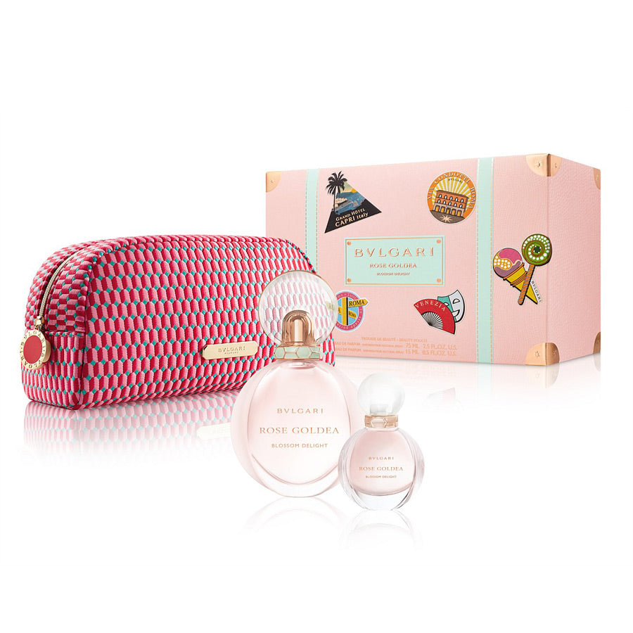 Bvlgari Rose Goldea Blossom Delight Eau De Parfum 75ml Gift Set