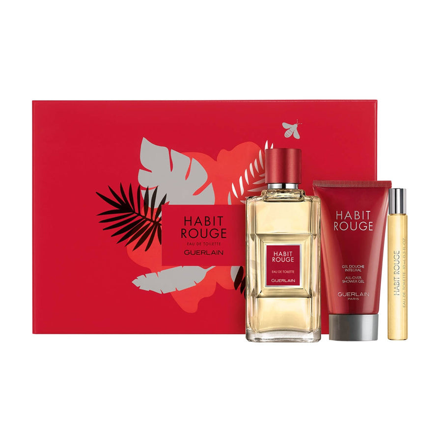Guerlain Habit Rouge Eau De Toilette 100ml Gift Set