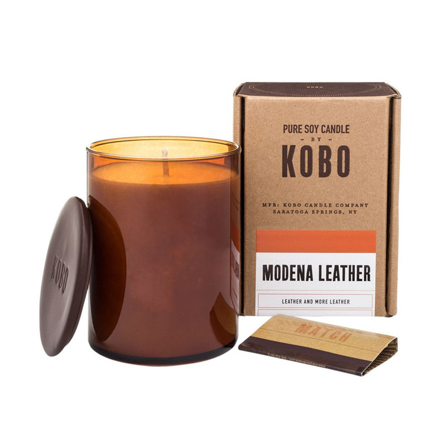 Kobo Modena Leather Candle 312g