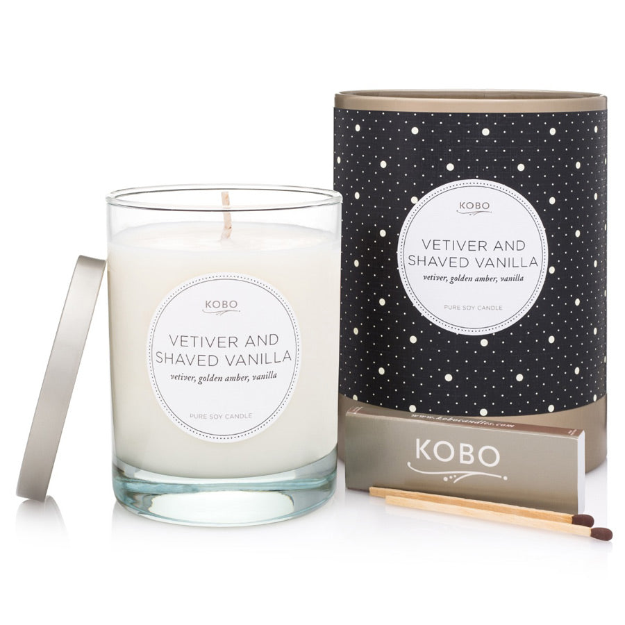 Kobo Vetiver Shaved Vanilla Candle 312g