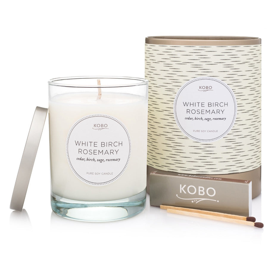 Kobo White Birch Rosemary Candle 312g