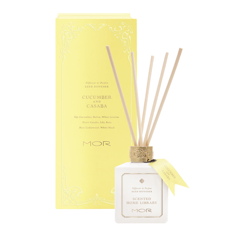MOR Scented Home Library Cucumber and Casaba Reed Diffuser 180ml