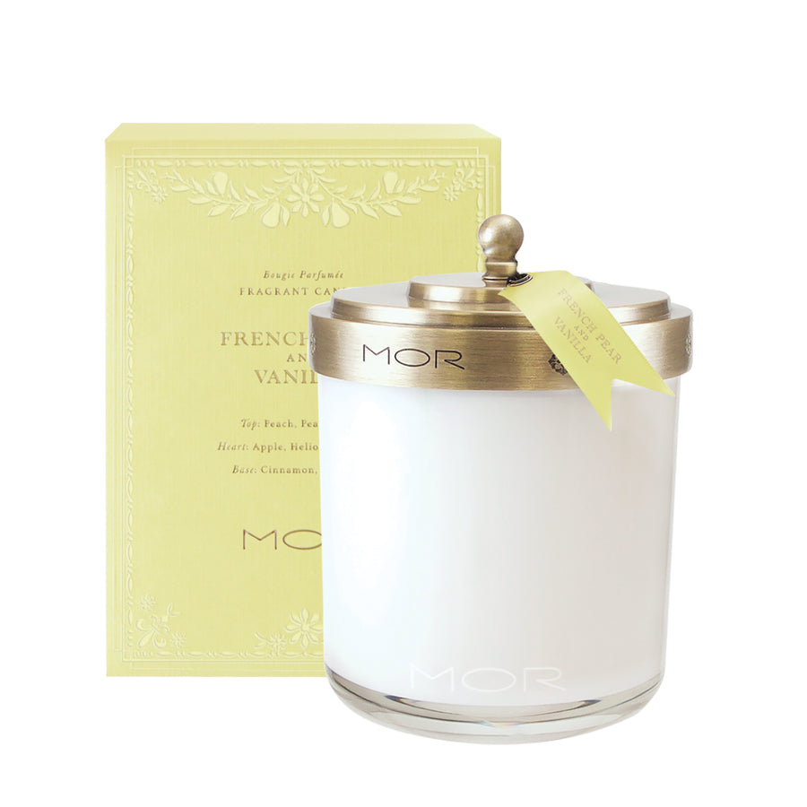 MOR Scented Home Library French Pear and Vanilla Fragrant Candle 380g