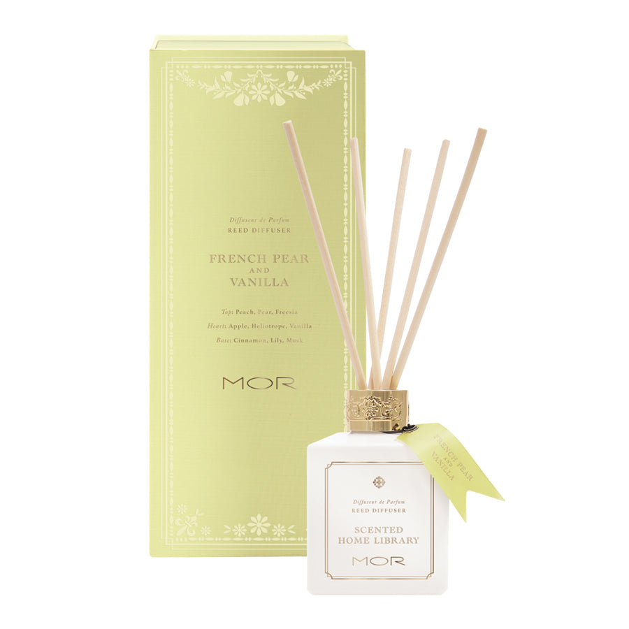 MOR Scented Home Library French Pear and Vanilla Reed Diffuser 180ml