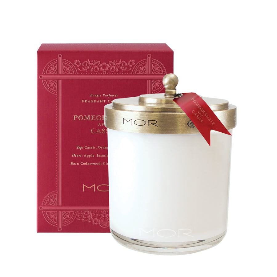 MOR Scented Home Library Pomegranate and Cassis Fragrant Candle 380g