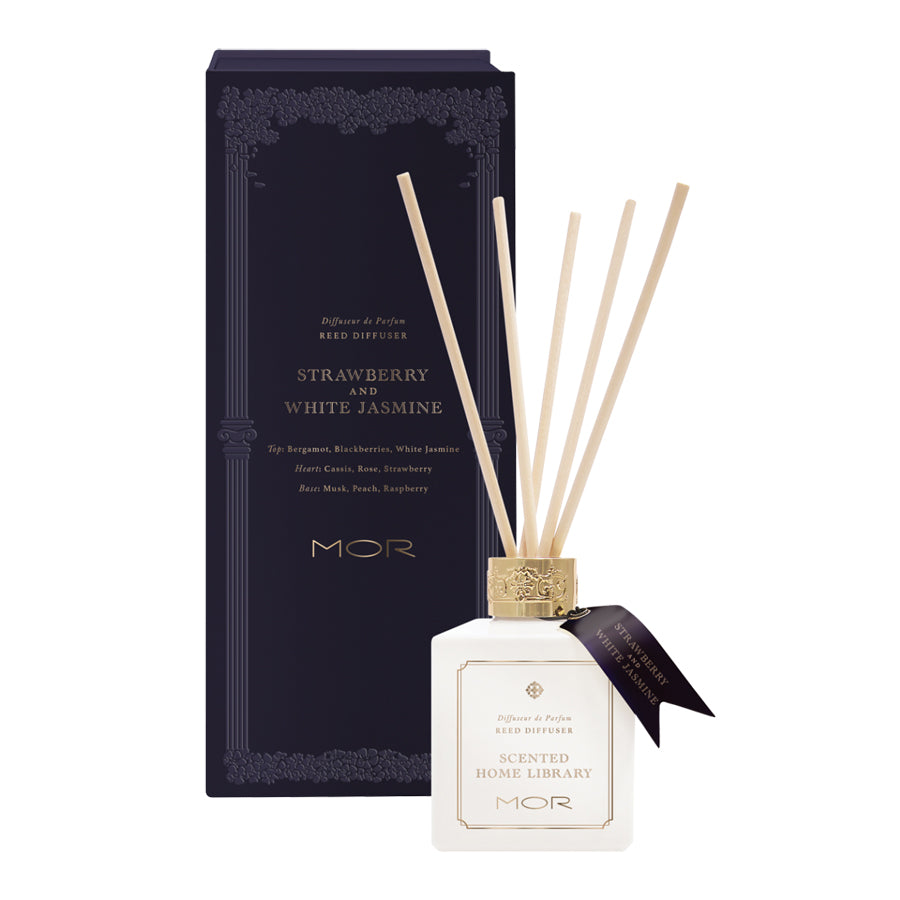 MOR Scented Home Library Strawberry and White Jasmine Reed Diffuser 180ml