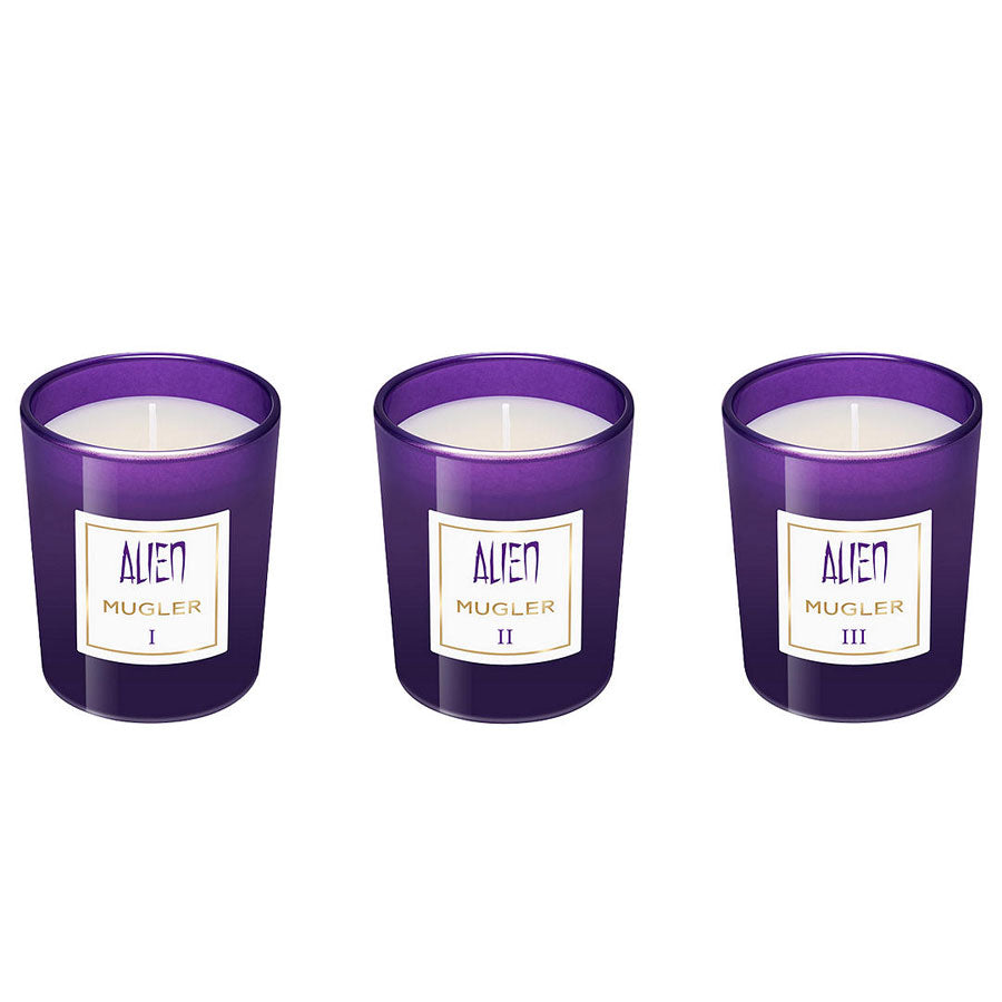 Mugler Alien Collection of Three Mini Scented Candles 70g