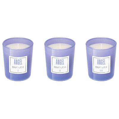 Mugler Angel Collection of Three Mini Scented Candles 70g