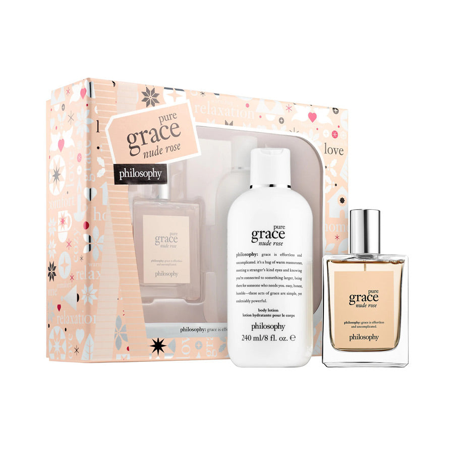 Philosophy Pure Grace Nude Rose Eau De Toilette 60ml Gift Set