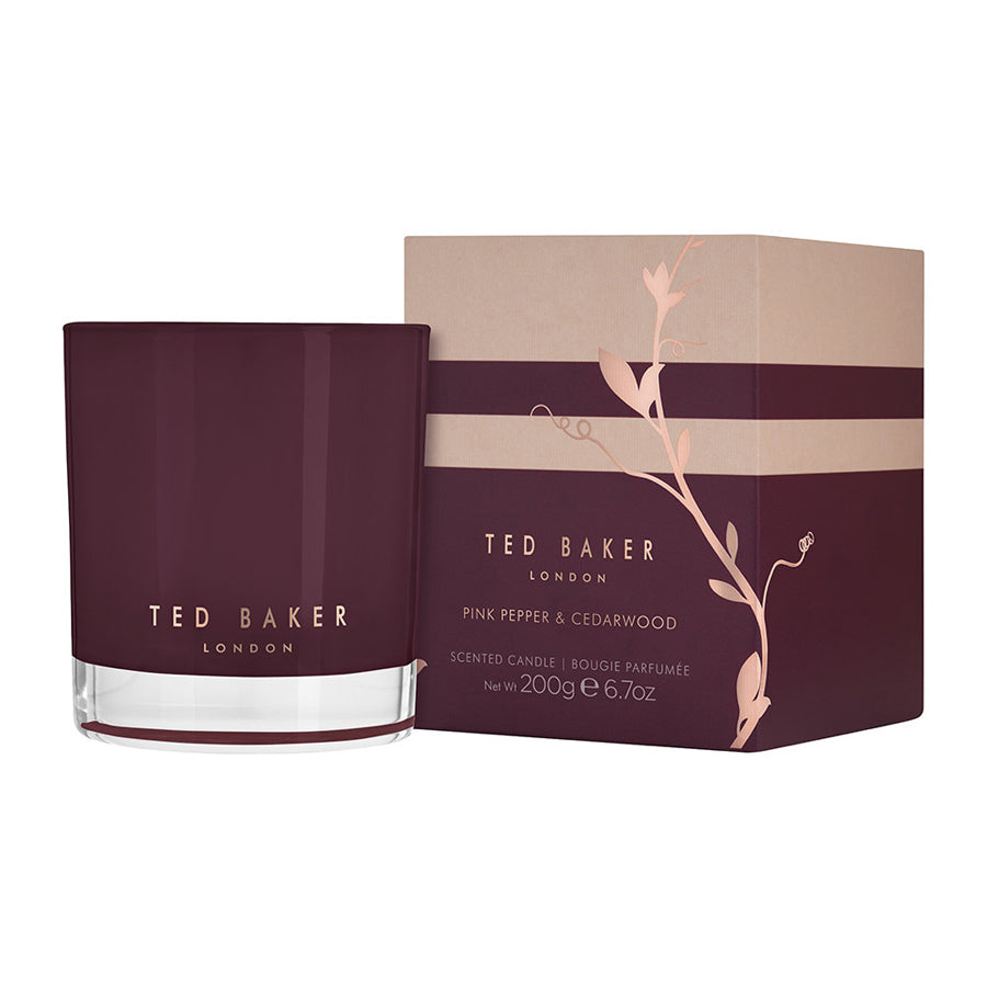 Ted Baker Pink Pepper and Cedarwood Candle 200g