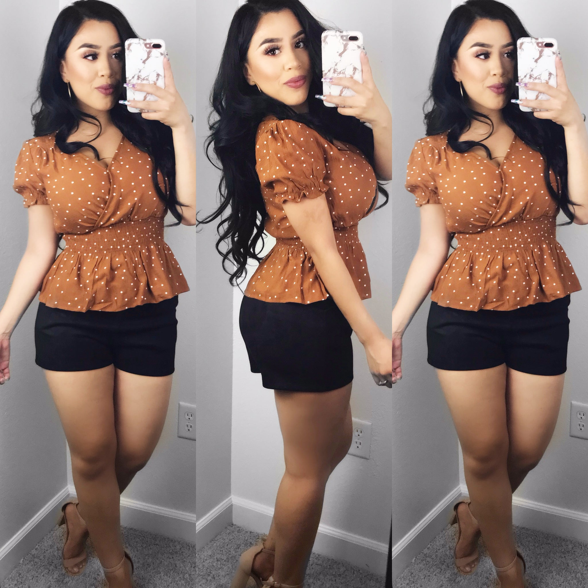 Faith Peplum Top