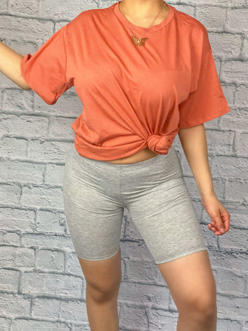 Casual Tee (Coral)