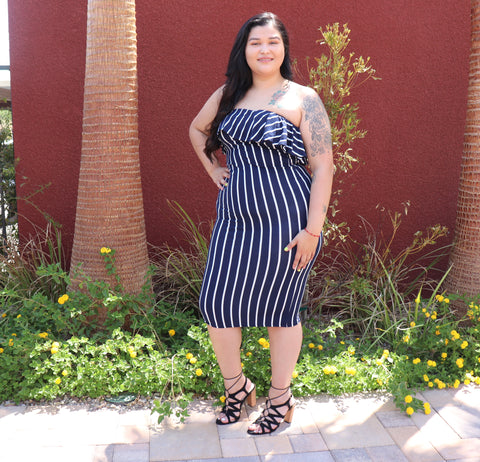 Cici Striped Dress (Plus Size)