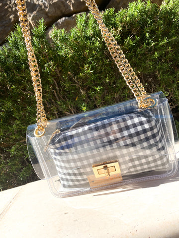All in it Clear Purse
