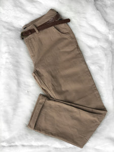 Victoria Pants W/ Belt-Khaki
