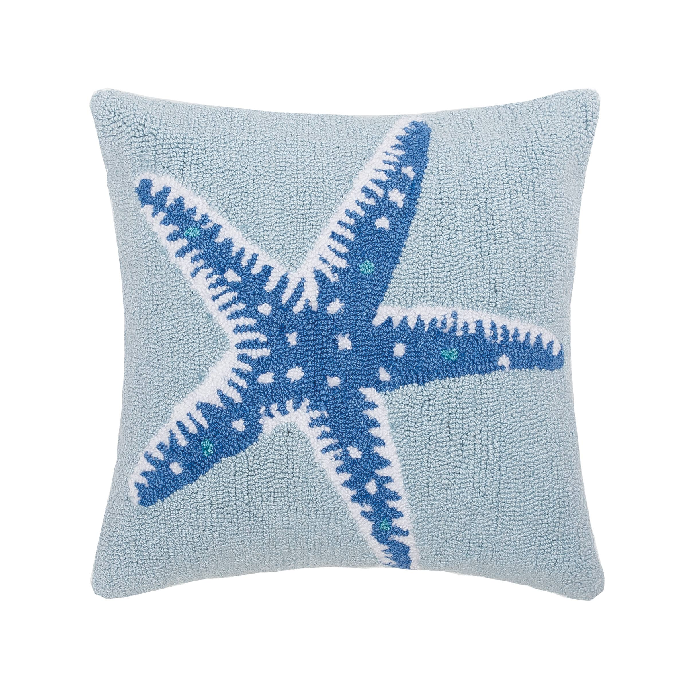 Starfish Hooked 18 x 18 in Pillow