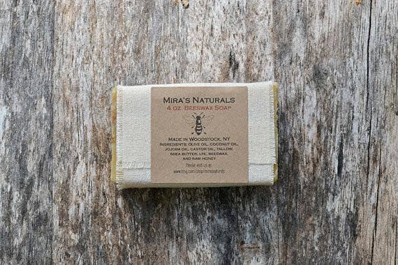 Mira's Naturals - Beeswax Honey Bar Soap 4oz - Le Bébé Chic Boutique